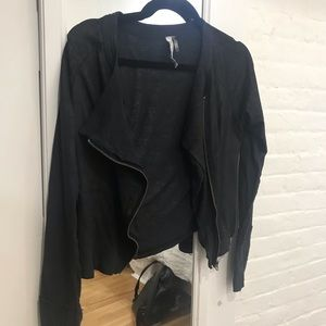 Black zip up jacket